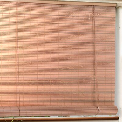 Outdoor Roller Blind Size: 72 W x 96 L, Color: Woodgrain