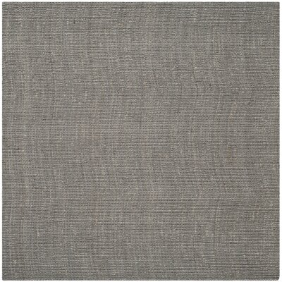 Greene Hand-Woven Gray Indoor Area Rug Rug Size: Square 8