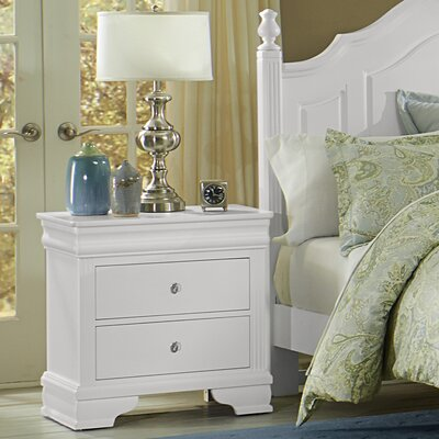 Arden 2 Drawer Nightstand Finish: Soft White