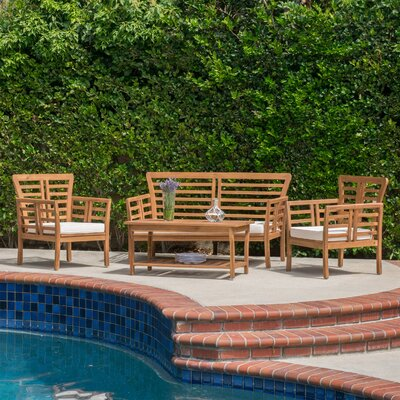 Redington 4 Piece Deep Seating Group with Cushion