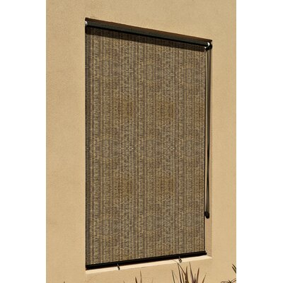 Blackout Outdoor Roller Shade Size: 48 W x 96 L, Color: Walnut