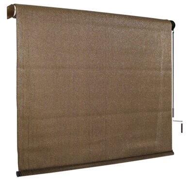 95% UV Block Outdoor Roller Solar Shade Size: 48 W x 96 L, Color: Walnut