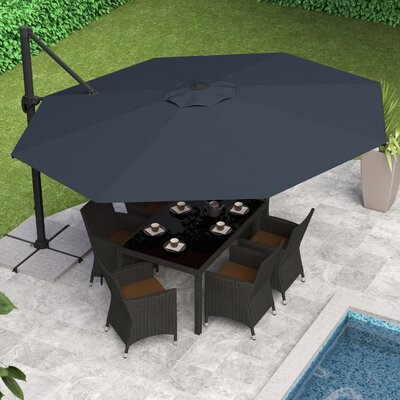 Reid 11 Cantilever Umbrella Fabric: Black