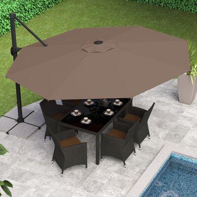 Carver 11 Cantilever Umbrella Fabric: Sandy Brown