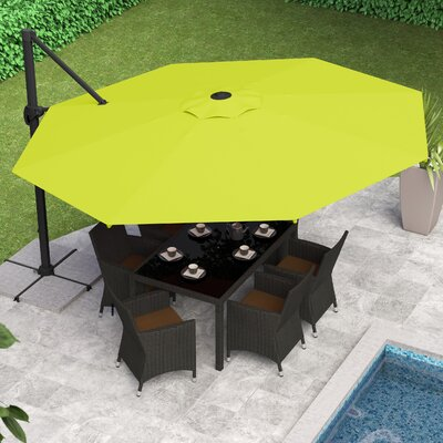 Reid 11 Cantilever Umbrella Fabric: Lime Green