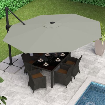 Reid 11 Cantilever Umbrella Fabric: Sand Gray