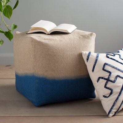 Hallie Pouf Upholstery: Blue