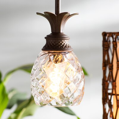 Terry 1-Light Mini Pendant Finish: Pearl Bronze