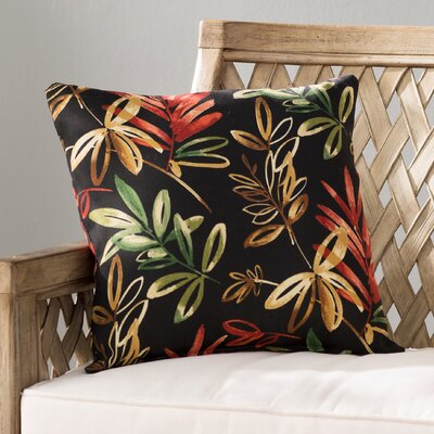 Knotweed Outdoor Throw Pillow Color: Menillo Midnight