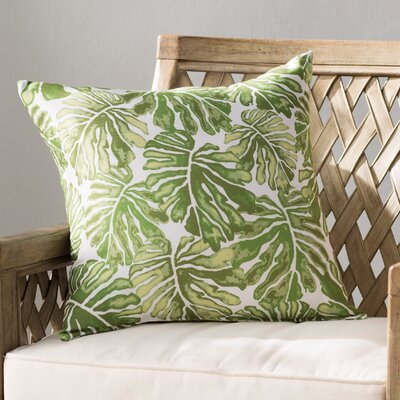 Costigan Palm Leaves Floral Print Outdoor Throw Pillow Color: Green, Size: 20 H x 20 W x 3 D