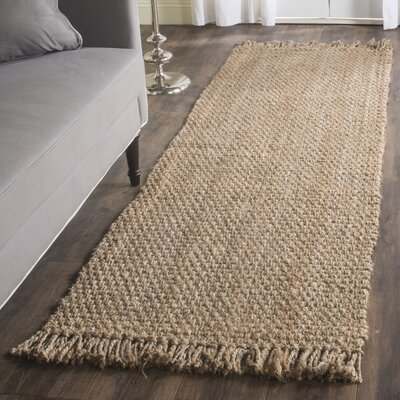 Guava Hand-Woven Beige Area Rug Rug Size: Runner 26 x 18