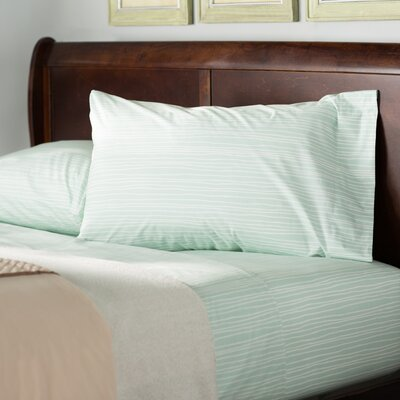 Warrenton 200 Thread Count 100% Cotton Sheet Set Size: Queen, Color: Aqua