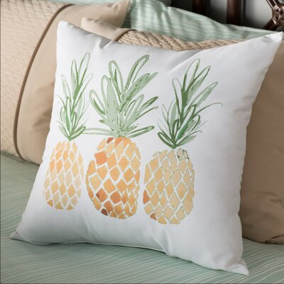 Thirlby 3 Pineapples Throw Pillow Size: 26 H x 26 W x 3 D