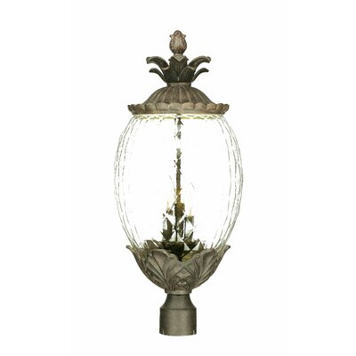 Waterbury Outdoor 3-Light Lantern Head Finish: Black Coral