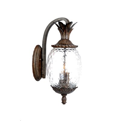 Waterbury 3-Light Outdoor Wall Lantern Finish: Black Coral