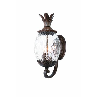 Waterbury 3-Light Outdoor Sconce Finish: Black Coral