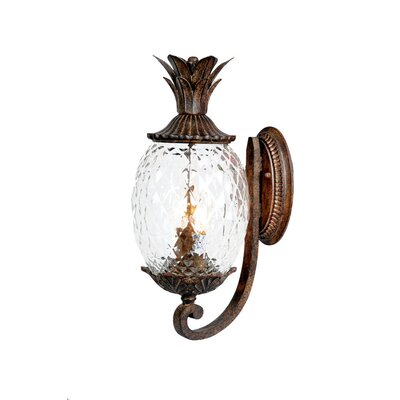 Waterbury 2-Light Outdoor Sconce Finish: Black Coral