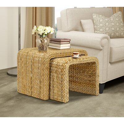 Dimitri 2 Piece Nesting Tables Color: Natural