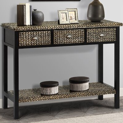 Kissimmee Console table Color: Silver Grey Patina