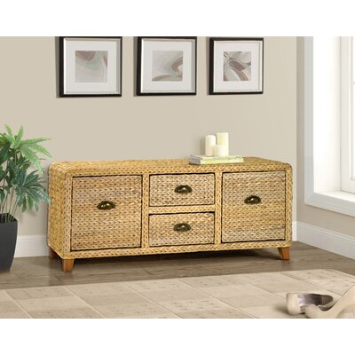 Kissimmee Wood Storage Entryway Bench Color: Natural
