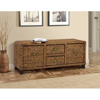 Kissimmee Wood Storage Entryway Bench Color: Gold Patina