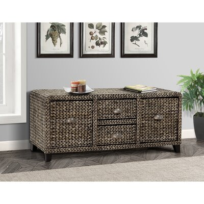 Kissimmee Wood Storage Entryway Bench Color: Silver Grey Patina