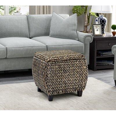 Dimitri Storage Ottoman Upholstery: Silver Grey Patina