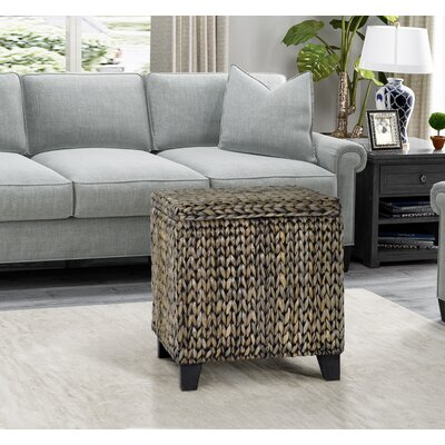 Kissimmee Storage Ottoman Upholstery: Silver Grey Patina