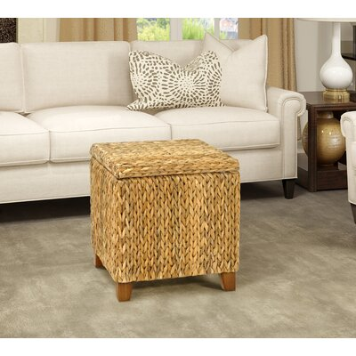 Kissimmee Storage Ottoman Upholstery: Natural