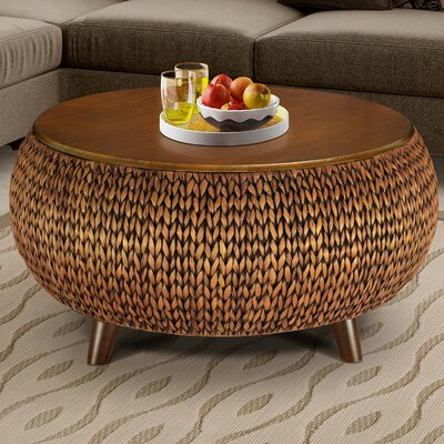 Dimitri Round Coffee Table Finish: Gold
