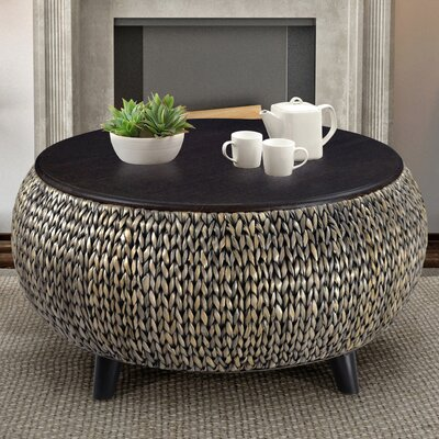 Dimitri Round Coffee Table Color: Silver Gray