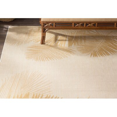 Cecile Palm Neutral Indoor/Outdoor Area Rug Rug Size: 410 x 76