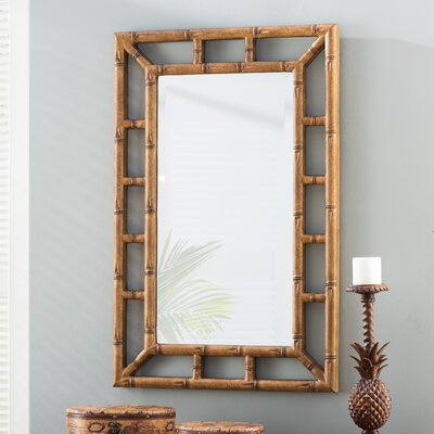 Bamboo Brown Wall Mirror
