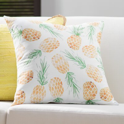 Thirlby Pineapples Throw Pillow Size: 16