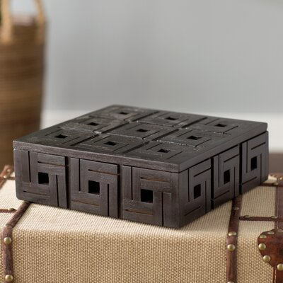 Teak Patterned Box