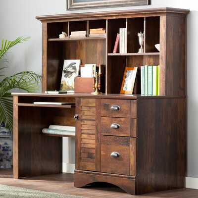 Enfield Computer Desk with Hutch