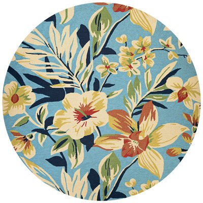 Wallingford Whimsical Garden Hand-Knotted Indoor/Outdoor Area Rug Rug Size: Round 710