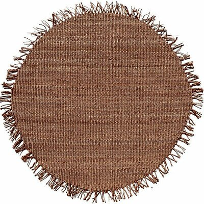 Julia Natural Tan Area Rug Rug Size: Round 6