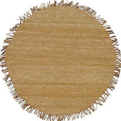 Julia Natural Brown Area Rug Rug Size: Round 8
