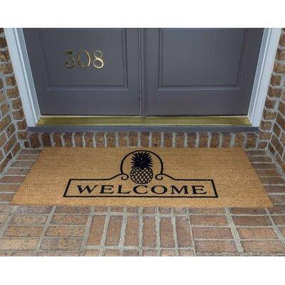 Jade Pineapple Welcome Double Door Doormat Size: 24 W x 60 L