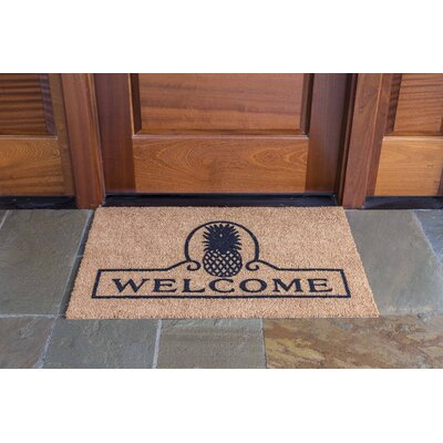 Vassalboro Pineapple Welcome Doormat