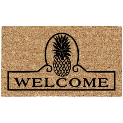 Jade Pineapple Welcome Doormat