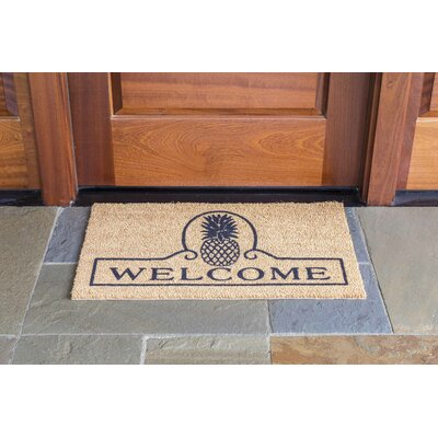Vassalboro Pineapple Welcome Rectangle Doormat