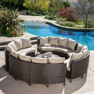 Sena Wicker 10 Piece Lounge Seating Group with Cushions