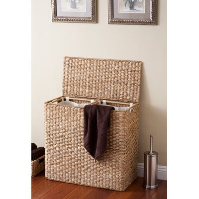 Oversized Divided Wicker Laundry Sorter Color: Honey