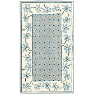 Everglades Blue/Ivory Rug Rug Size: 39 x 59