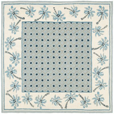 Everglades Blue/Ivory Rug Rug Size: Square 6