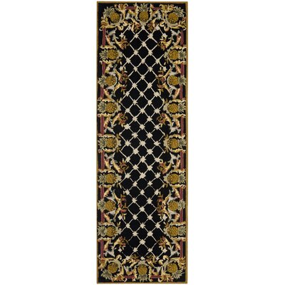 Everglades Black/Multi Pineapple Rug Rug Size: Runner 26 x 8