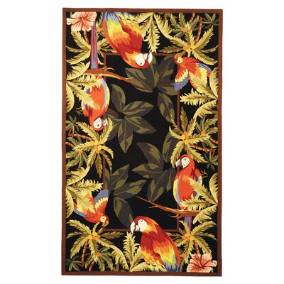 Everglades Tropical Parrot Novelty Area Rug Rug Size: 18 x 26