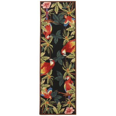 Hogle Tropical Parrot Novelty Area Rug Rug Size: Runner 26 x 12